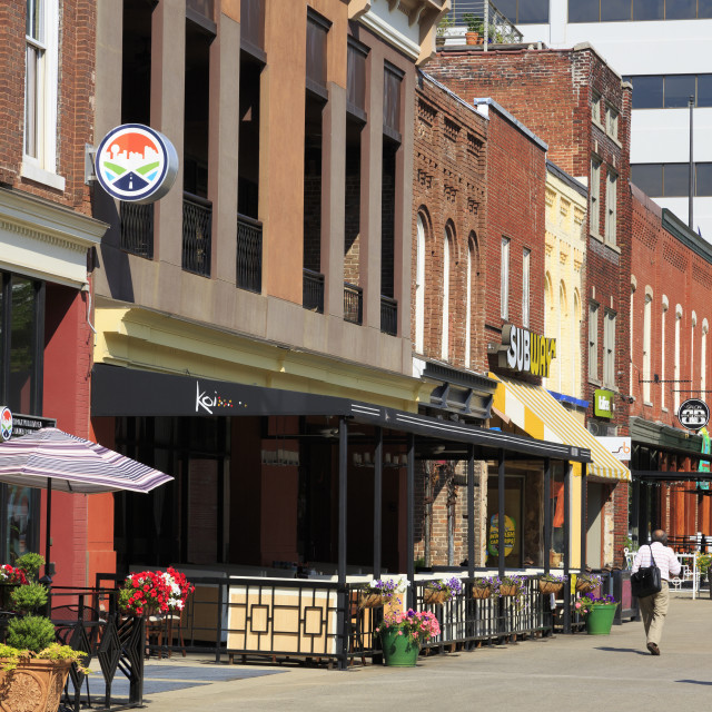 """""""Market Square, Knoxville, Tennessee, United States of America, North America"""" stock image"""