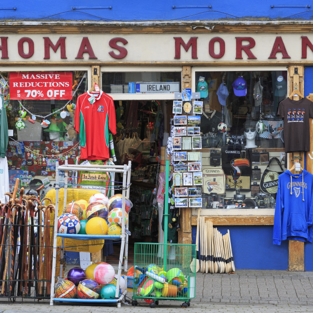 """Thomas Moran's shop in Westport Town, County Mayo, Connaught, Republic of..."" stock image"