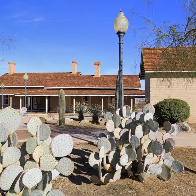 """""""Yuma Quartermaster Depot State Historic Park, Yuma, Arizona, United States of..."""" stock image"""