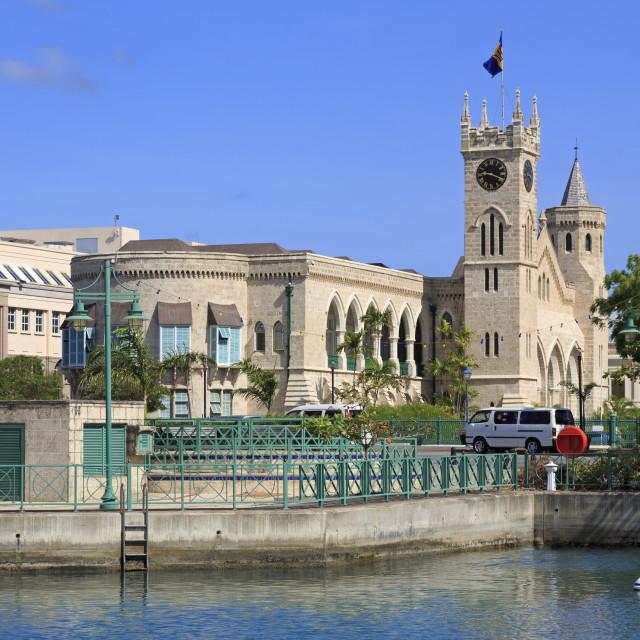"""Parliament Building, Bridgetown, Barbados, West Indies, Caribbean, Central..."" stock image"