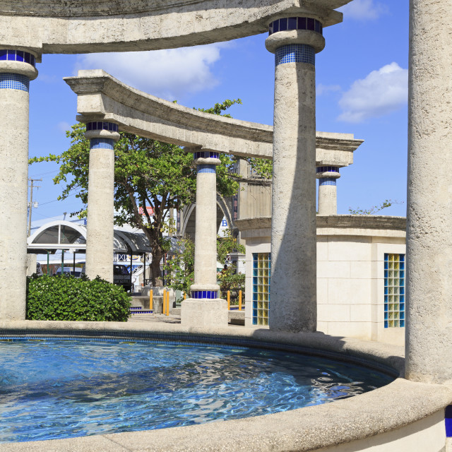 """""""Fountain in Independence Square, Bridgetown, Barbados, West Indies,..."""" stock image"""