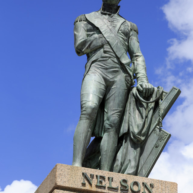 """""""Lord Nelson statue in Bridgetown, Barbados, West Indies, Caribbean, Central..."""" stock image"""