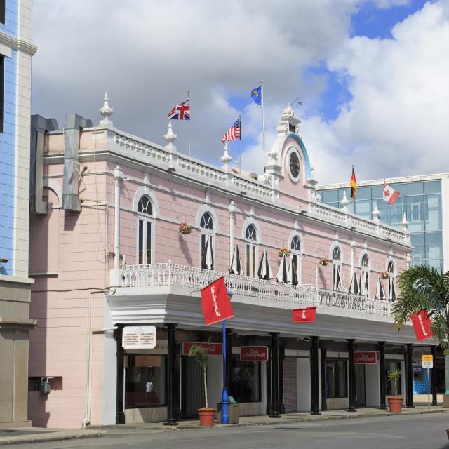 """Historic Colonnade Building, Bridgetown, Barbados, West Indies, Caribbean,..."" stock image"