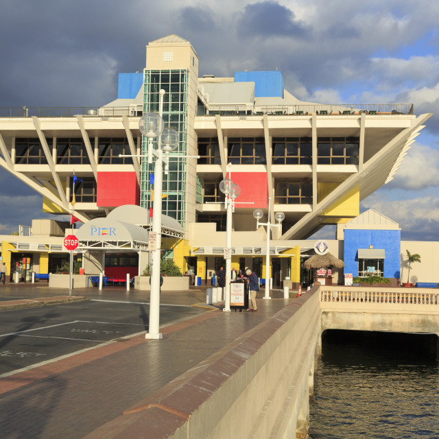 """""""The Pier in St. Petersburg, Tampa, Florida, United States of America, North..."""" stock image"""