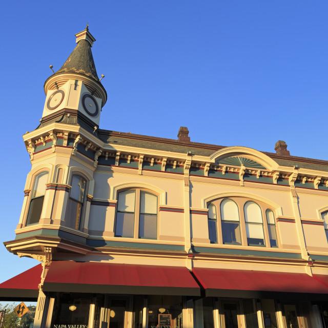 """""""Victorian architecture in Napa City, Napa County, California, United States..."""" stock image"""