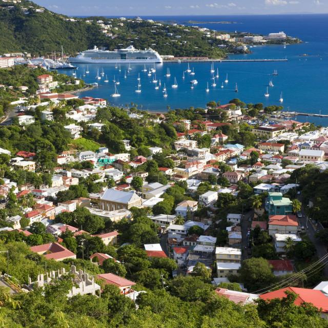 """West Indies, Caribbean, Lesser Antilles, Leeward Islands, US Virgin Islands,..."" stock image"