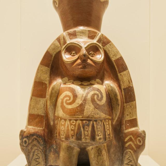 """""""Pre-Columbian artifacts and art in the Larco Museum, Lima, Peru, South America"""" stock image"""