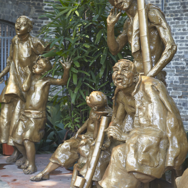 """Statues at Chen Clan Academy, Guangzhou, Guangdong, China, Asia"" stock image"