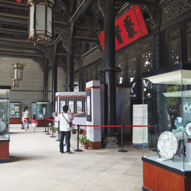 """""""Artifacts on display at Chen Clan Academy, Guangzhou, Guangdong, China, Asia"""" stock image"""