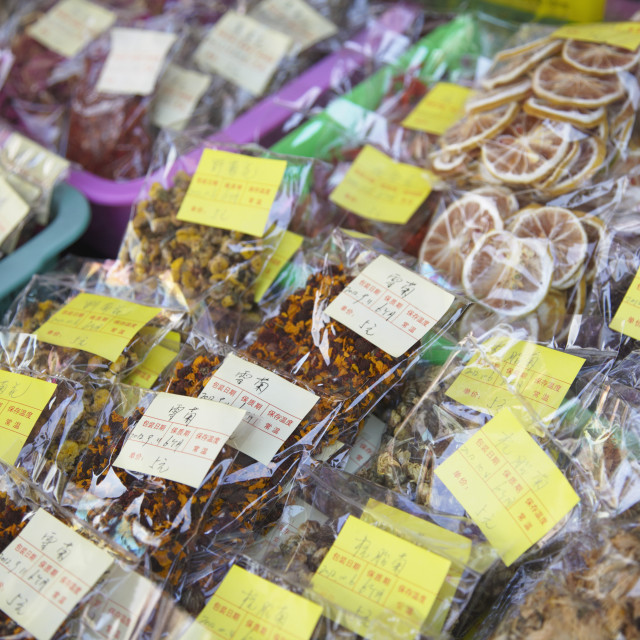 """""""Dried flowers, Guangzhou, Guangdong, China, Asia"""" stock image"""