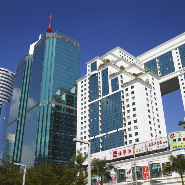 """Skyscrapers, Shenzhen, Guangdong, China, Asia"" stock image"