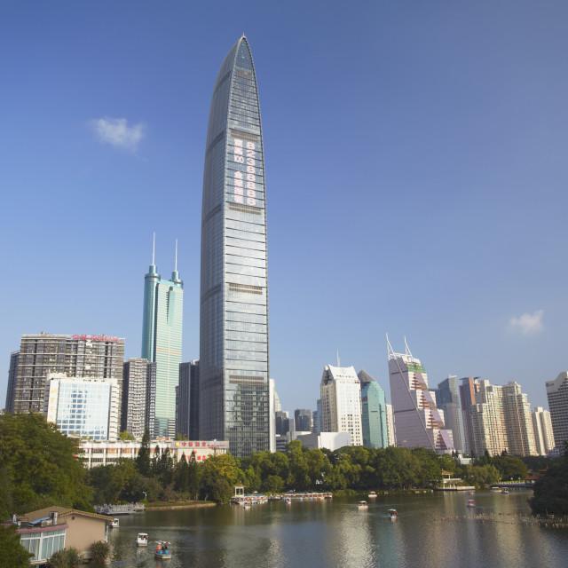 """Kingkey 100 Finance Building, Shenzhen, Guangdong, China, Asia"" stock image"