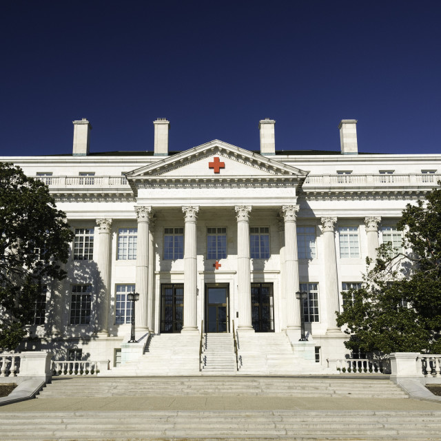 """""""American National Red Cross Headquarters, Washington, D.C., United States of..."""" stock image"""