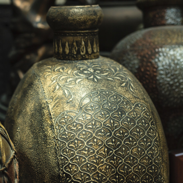 """""""Antiques, Souk Madinat, Dubai, United Arab Emirates, Middle East"""" stock image"""