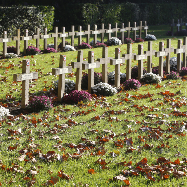 """World War I cemetery, Bagneux, Hauts-de-Seine, France, Europe"" stock image"