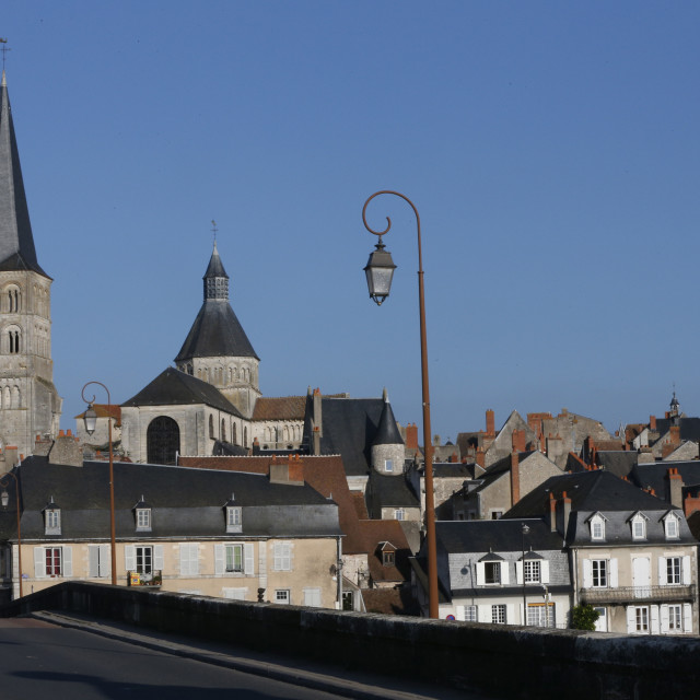 """""""Notre-Dame Church, La Charite-sur-Loire, Nievre, Burgundy, France, Europe"""" stock image"""