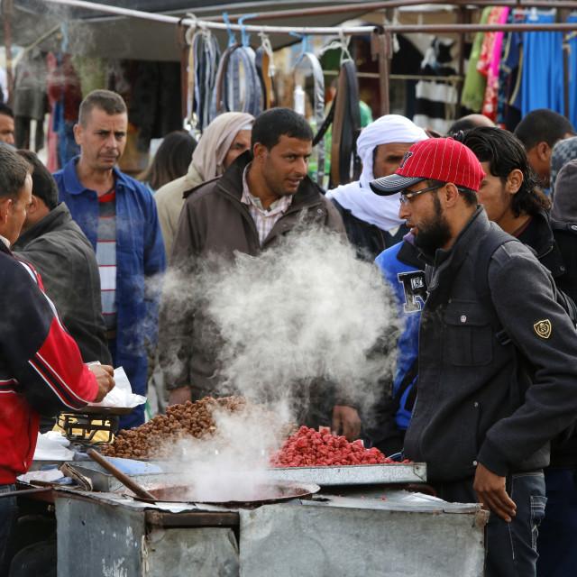 """""""Douz weekly market, Kebili, Tunisia, North Africa, Africa"""" stock image"""