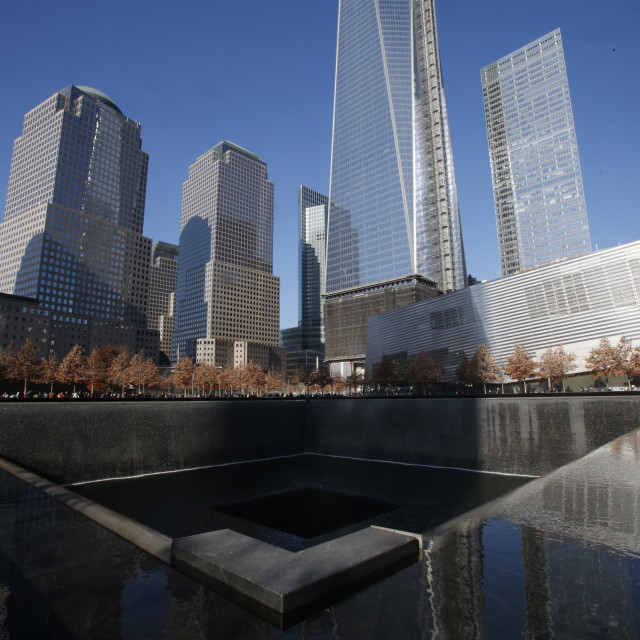 """""""Ground Zero, the National 9/11 Memorial at the site of the World Trade Center..."""" stock image"""