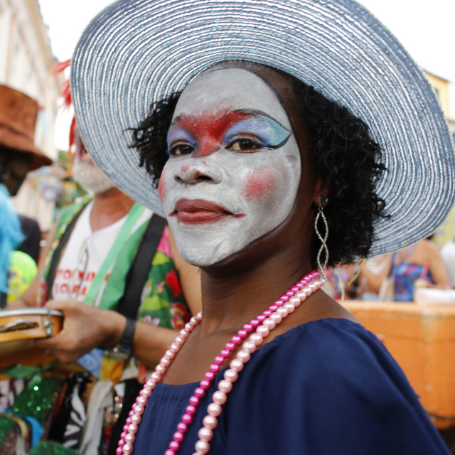 """Salvador street carnival in Pelourinho, Bahia, Brazil, South America"" stock image"