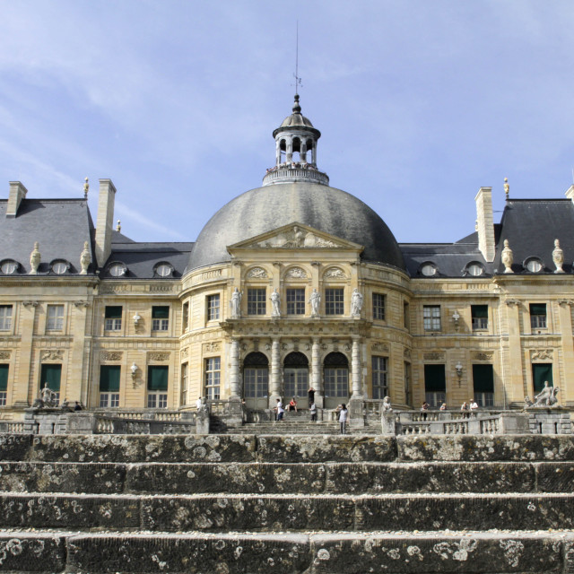 """South facade, Vaux-le-Vicomte chateau, Seine et Marne, France, Europe"" stock image"