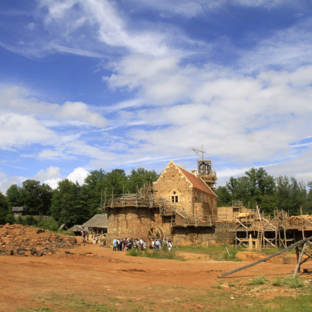 """""""Medieval site of the castle of Guedelon, Puisaye, Burgundy, France, Europe"""" stock image"""