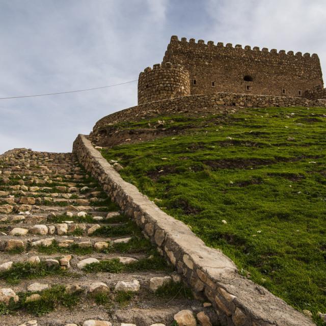 """Castle Khanzad, Iraq Kurdistan, Iraq, Middle East"" stock image"
