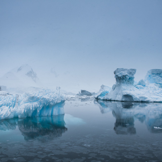"""Iceberg in the Antarctic waters, Enterprise Island, Antarctica, Polar Regions"" stock image"