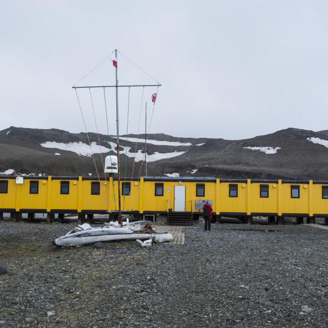 """Henryk Arctowski Polish Antarctic Station, King George Island, South Shetland..."" stock image"