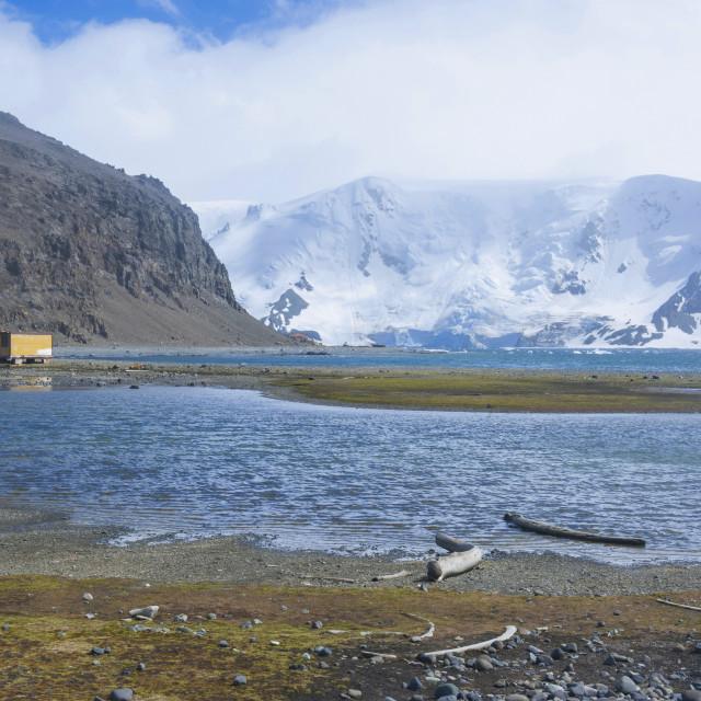 """Henryk Arctowski Polish Antarctic Station, King. George Island, South..."" stock image"