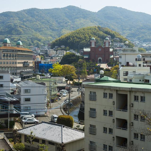 """""""View of Nagasaki, Kyushu, Japan, Asia"""" stock image"""
