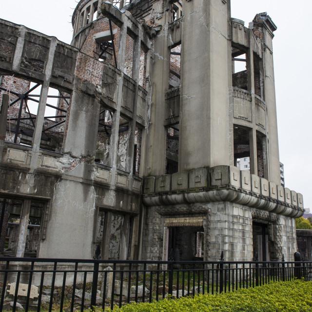"""Atomic Bomb Dome (Genbaku Dome), Hiroshima Peace Memorial, UNESCO World..."" stock image"