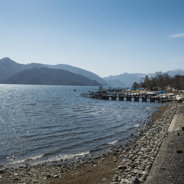 """""""Lake Chuzenji (Chuzenjiko) in Chuzenjiko Onsen, Nikko National Park, Nikko,..."""" stock image"""