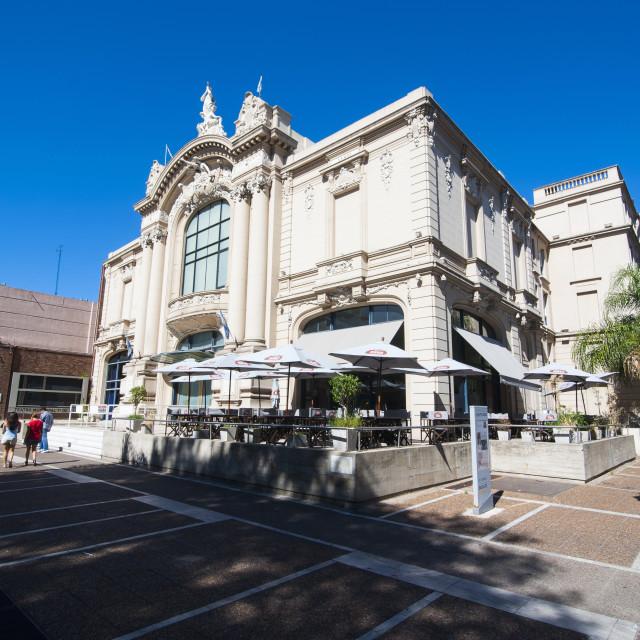 """Municipal theater of Santa Fe, capital of the province of Santa Fe,..."" stock image"
