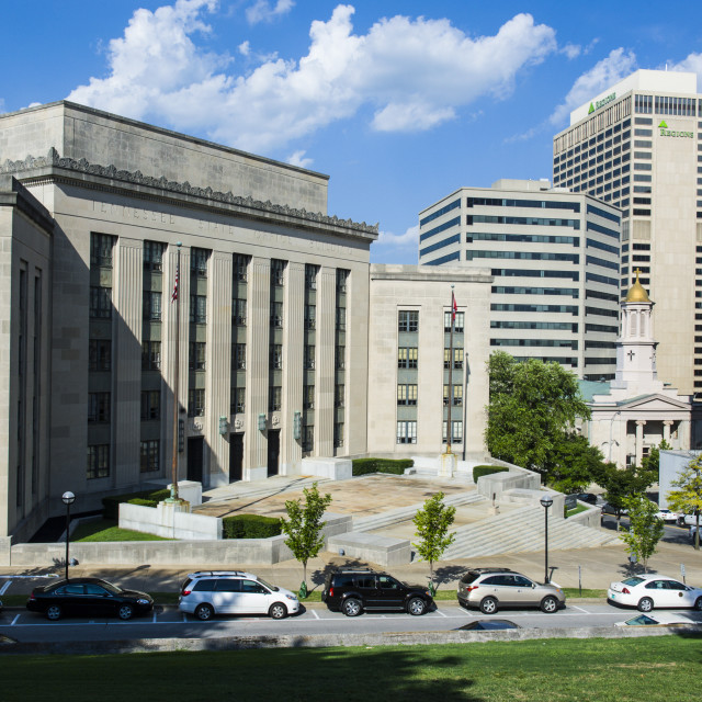 """""""Business district of Nashville, Tenessee, USA"""" stock image"""
