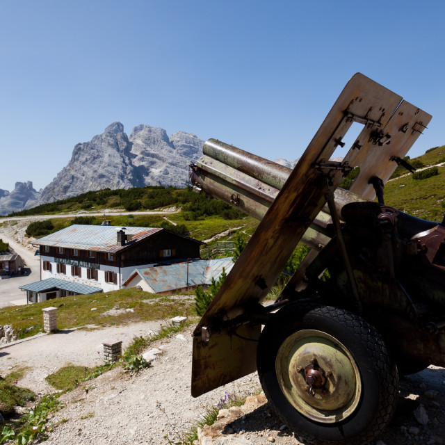 """Monte Piana open-air First World War Museum, Tre Cime di Lavaredo, Belluno,..."" stock image"