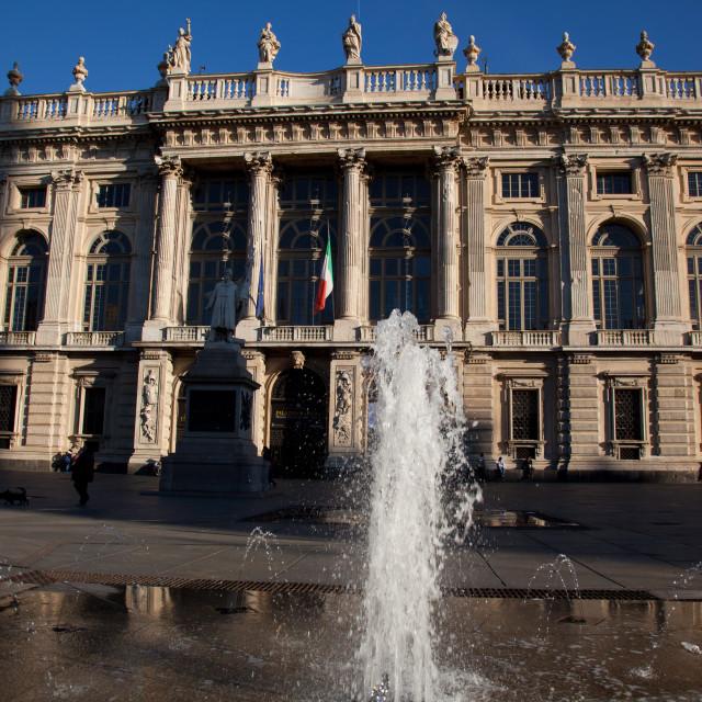 """Palazzo Madama was the first Senate of the Italian Kingdom, now housing..."" stock image"