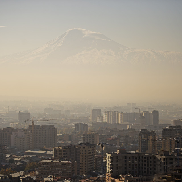 """""""A view of Yerevan and Mount Ararat, Armenia, Central Asia, Asia"""" stock image"""