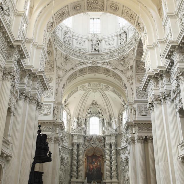"""Late Baroque style altar, St. Kajetan Church (Theatinerkirche) (Theatiner..."" stock image"