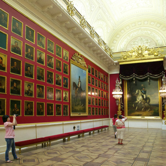 """1812 War Gallery, Winter Palace, State Hermitage Museum, St. Petersburg,..."" stock image"