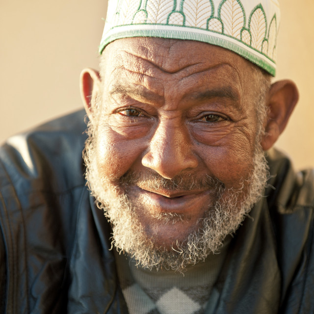 """""""Portraits of men outside Hassan II Mosque, Casablanca, Morocco, North Africa,..."""" stock image"""