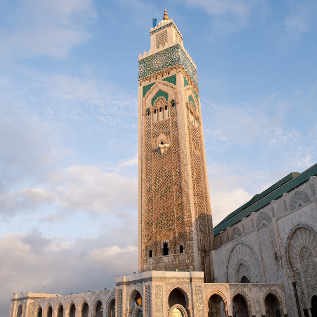 """Exterior of Hassan II Mosque, Casablanca, Morocco, North Africa, Africa"" stock image"