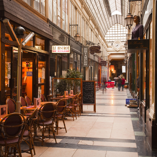 """Passage des Panoramas in central Paris, France, Europe"" stock image"