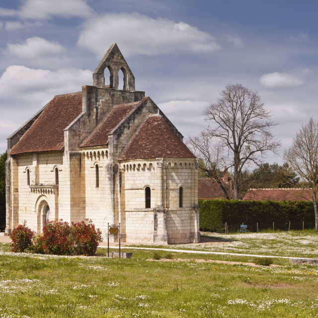 """""""Built in the 12th century, Chapelle Saint Lazare, once part of a leper colony..."""" stock image"""