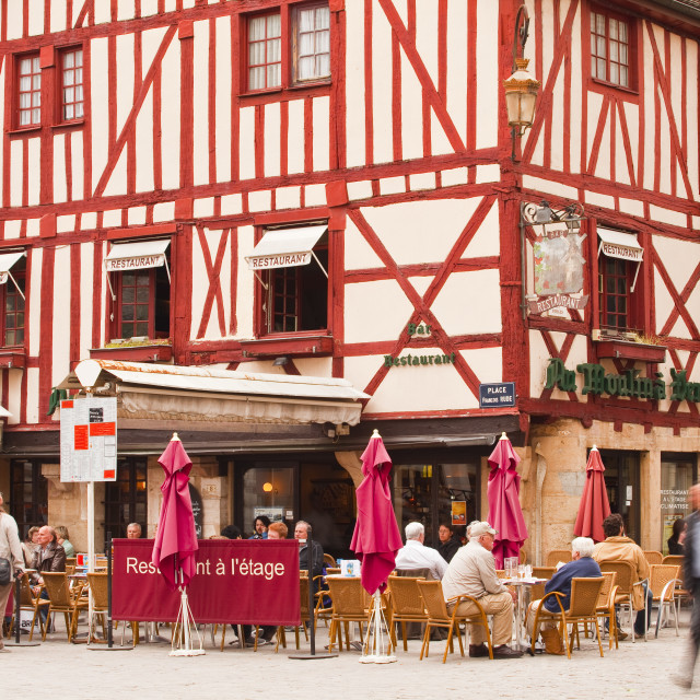 """""""Place Francois Rude in the city of Dijon, Burgundy, France, Europe"""" stock image"""