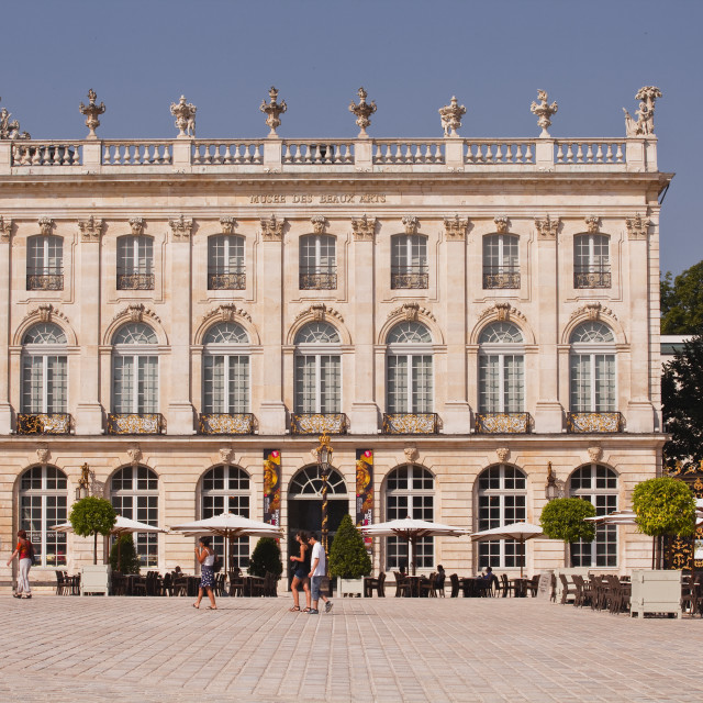 """The museum in Place Stanislas in the heart of Nancy, UNESCO World Heritage..."" stock image"
