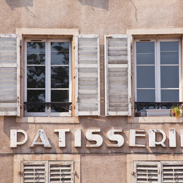 """An old patisserie (pastry shop) in the city of Nancy, Meurthe-et-Moselle,..."" stock image"