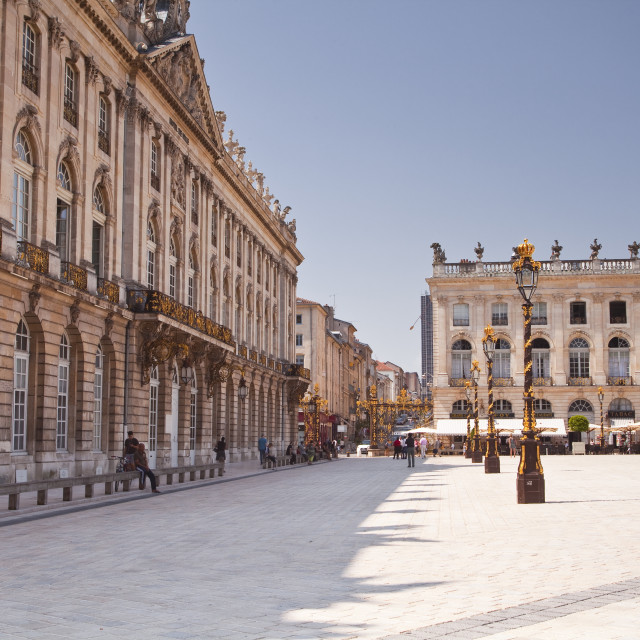 """Hotel de Ville in Place Stanislas, UNESCO World Heritage Site, Nancy,..."" stock image"