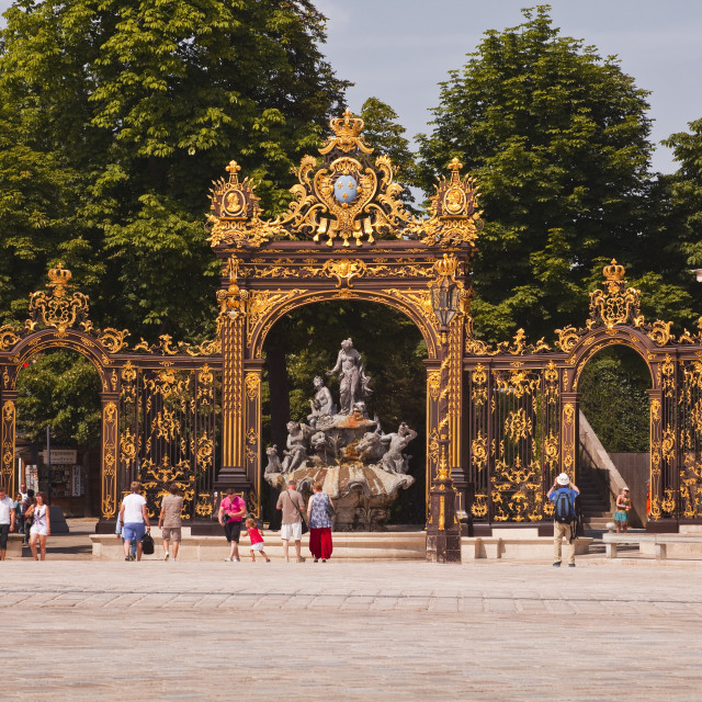 """Place Stanislas, UNESCO World Heritage Site, Nancy, Meurthe-et-Moselle,..."" stock image"