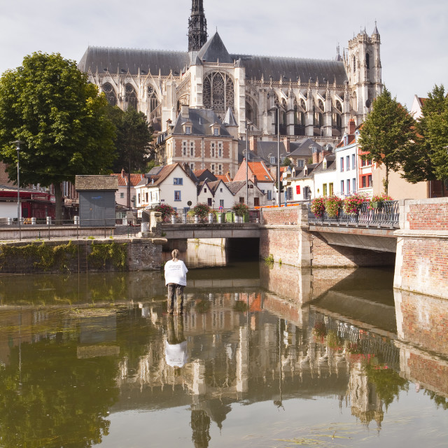 """Notre Dame d'Amiens Cathedral, UNESCO World Heritage Site, Amiens, Somme,..."" stock image"