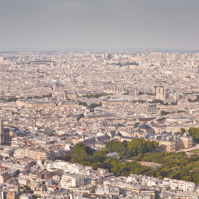 """""""The rooftops of Paris from Tour Montparnasse, Paris, France, Europe"""" stock image"""